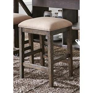 Rustic Upholstered Barstool