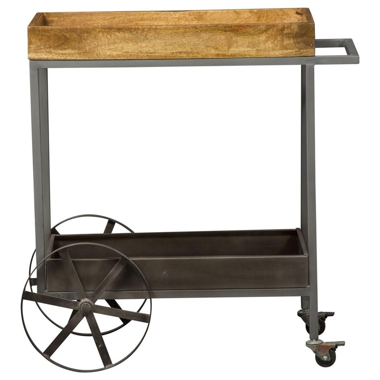Raven Accent Bar Trolley by Libby at Walker's Furniture