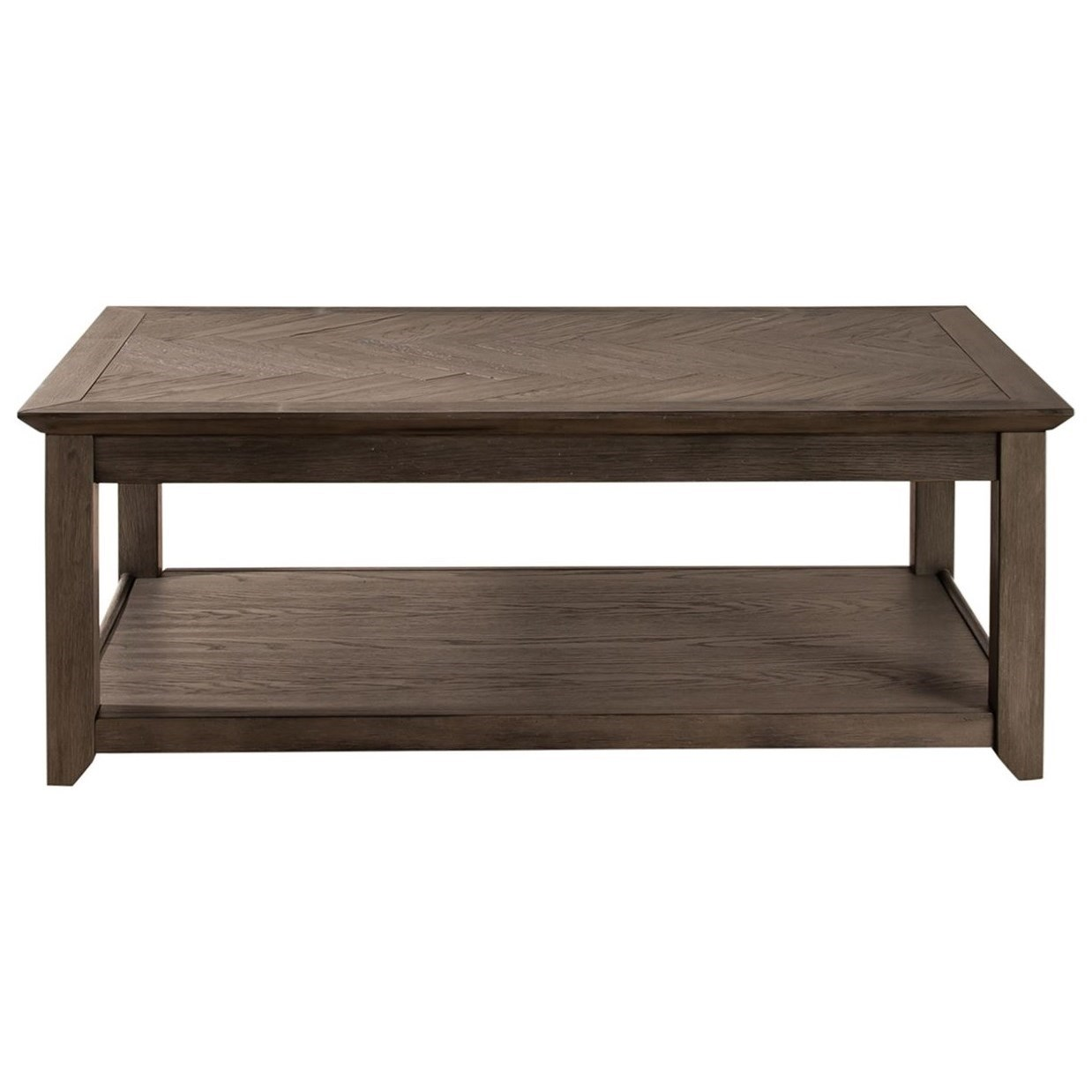 Rawson Rectangular Cocktail Table by Libby at Walker's Furniture