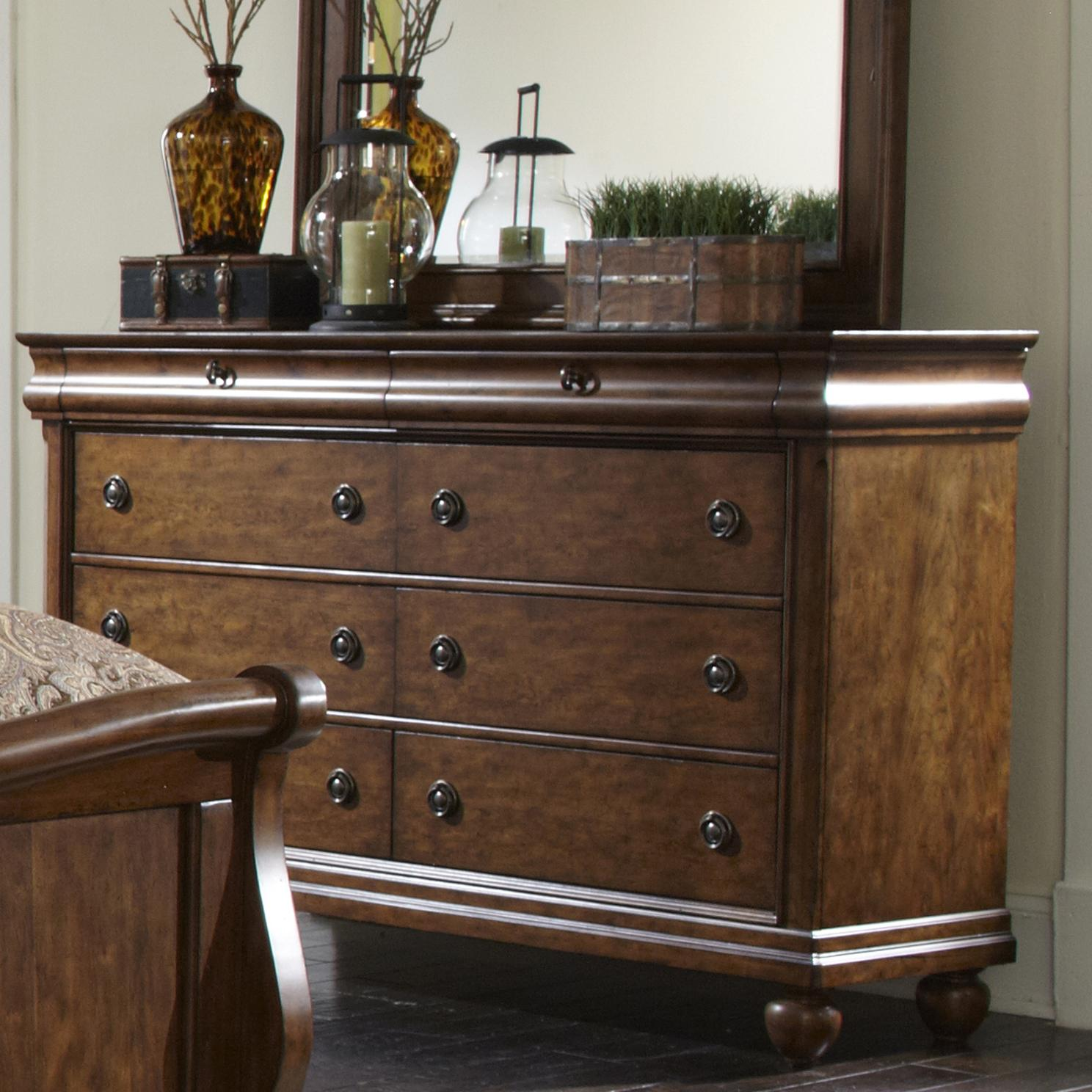 Rustic Traditions  Dresser by Libby at Walker's Furniture