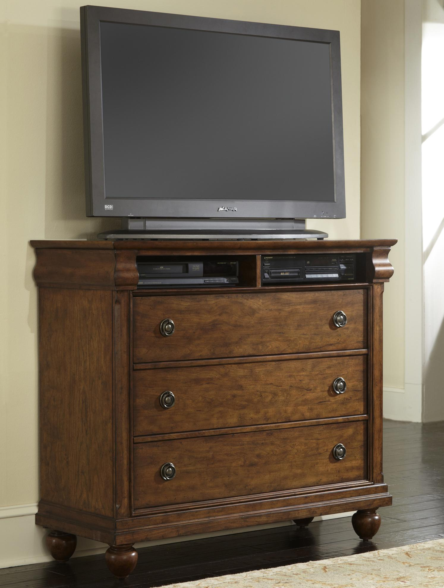 Rustic Traditions Media Chest by Libby at Walker's Furniture