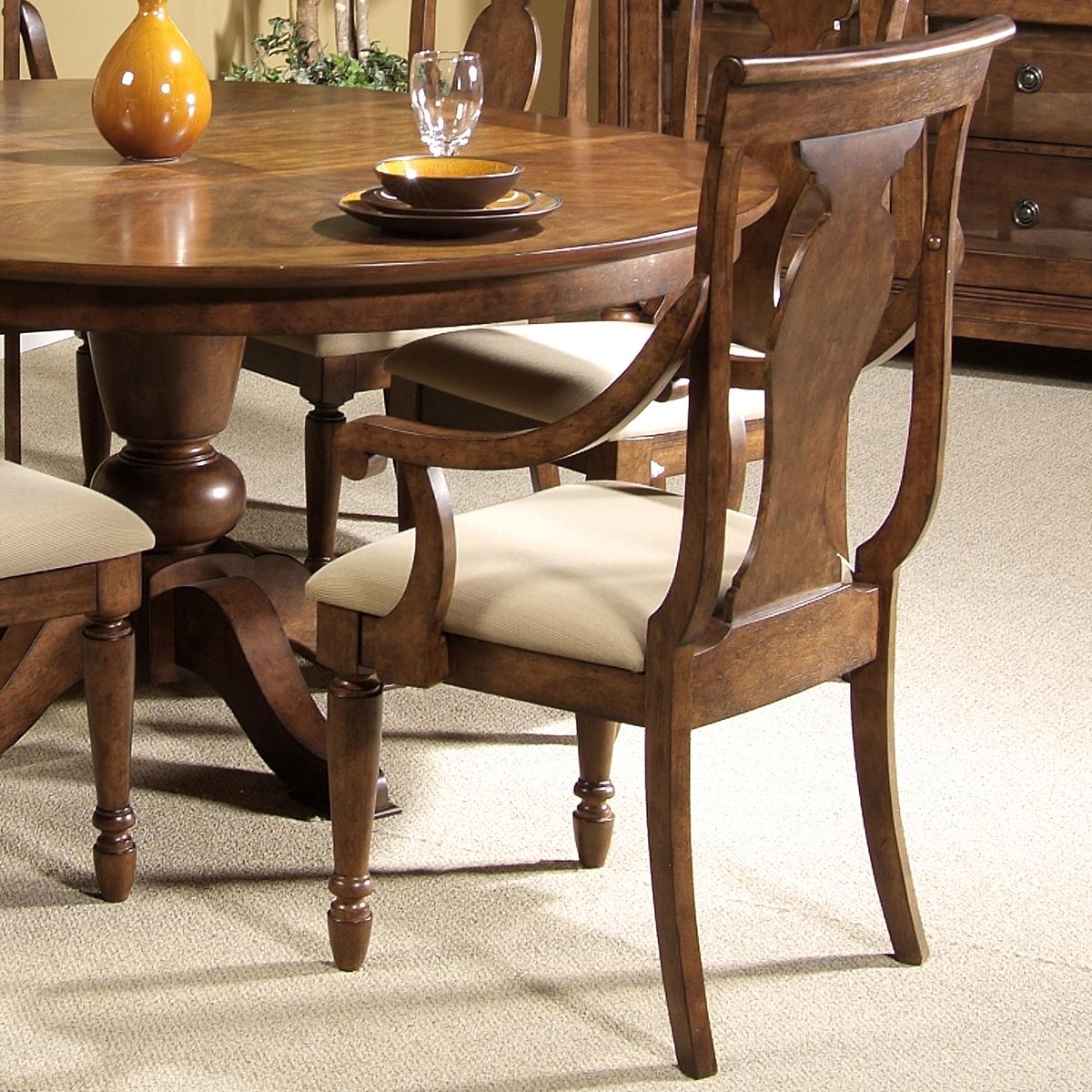Rustic Traditions Splat Back Arm Chair by Liberty Furniture at Lapeer Furniture & Mattress Center