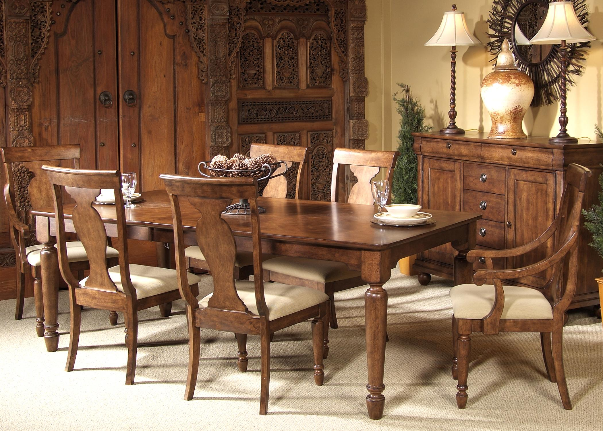 Rustic Traditions 7-Piece Rectangular Table Set by Liberty Furniture at Lapeer Furniture & Mattress Center