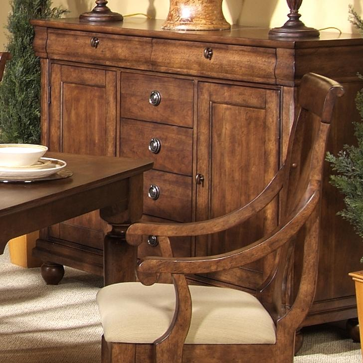Rustic Traditions 6-Drawer Server by Liberty Furniture at Lapeer Furniture & Mattress Center