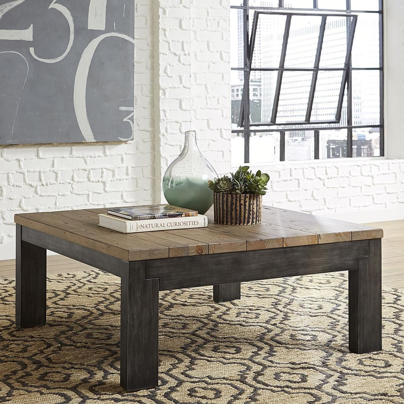 Rutland Grove Square Cocktail Table by Libby at Walker's Furniture