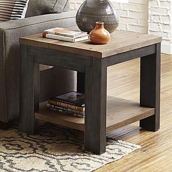 Rutland Grove Rectangular End Table by Libby at Walker's Furniture