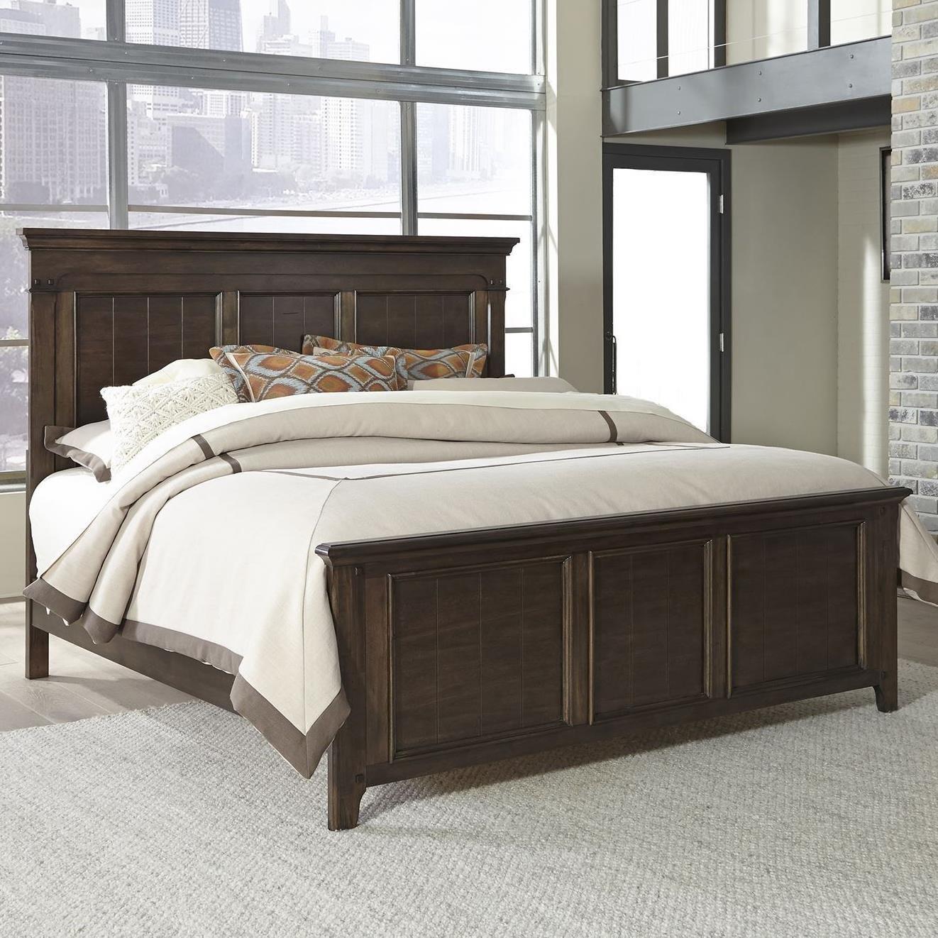 Saddlebrook King Panel Bed by Libby at Walker's Furniture