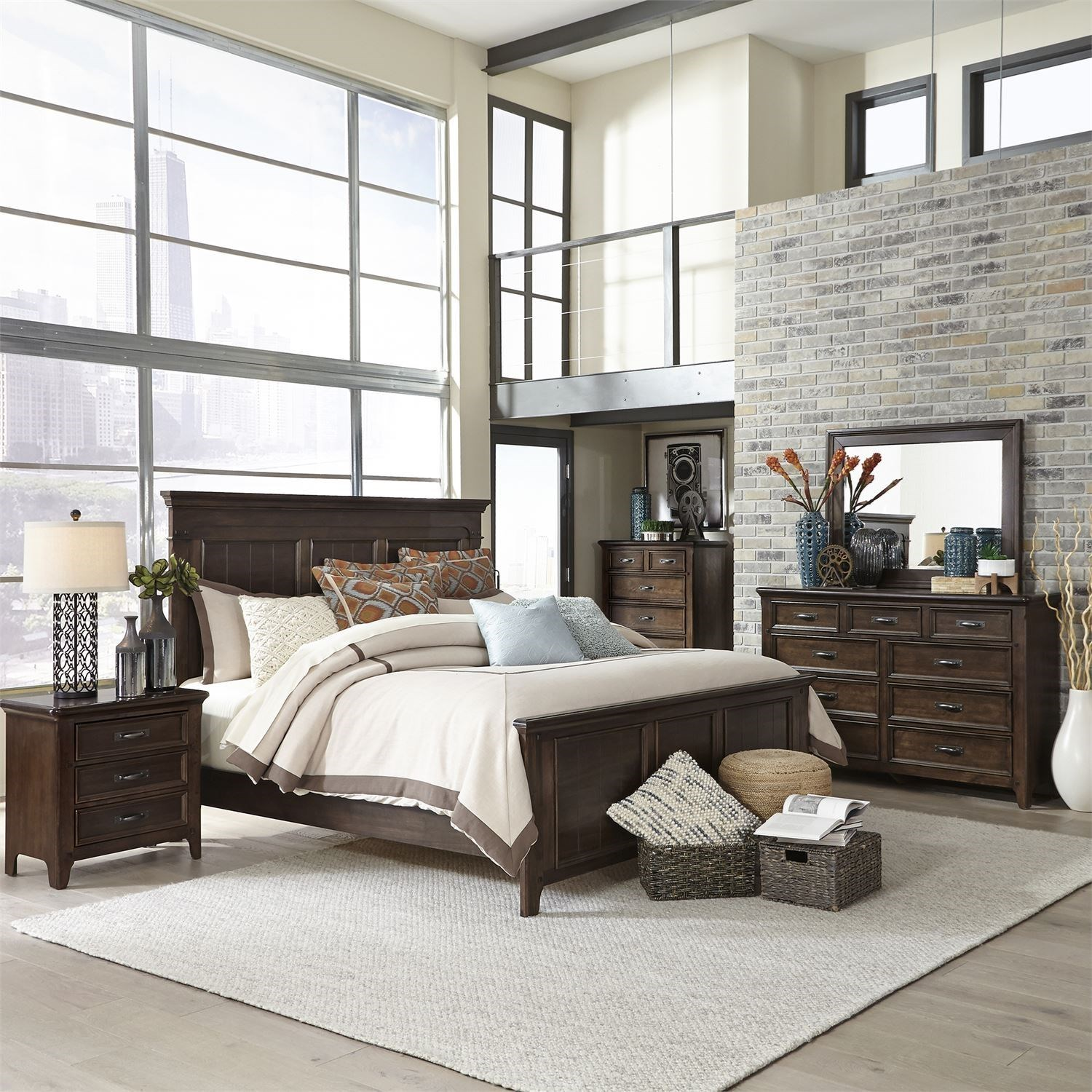 Saddlebrook Queen Bedroom Group by Liberty Furniture at Northeast Factory Direct