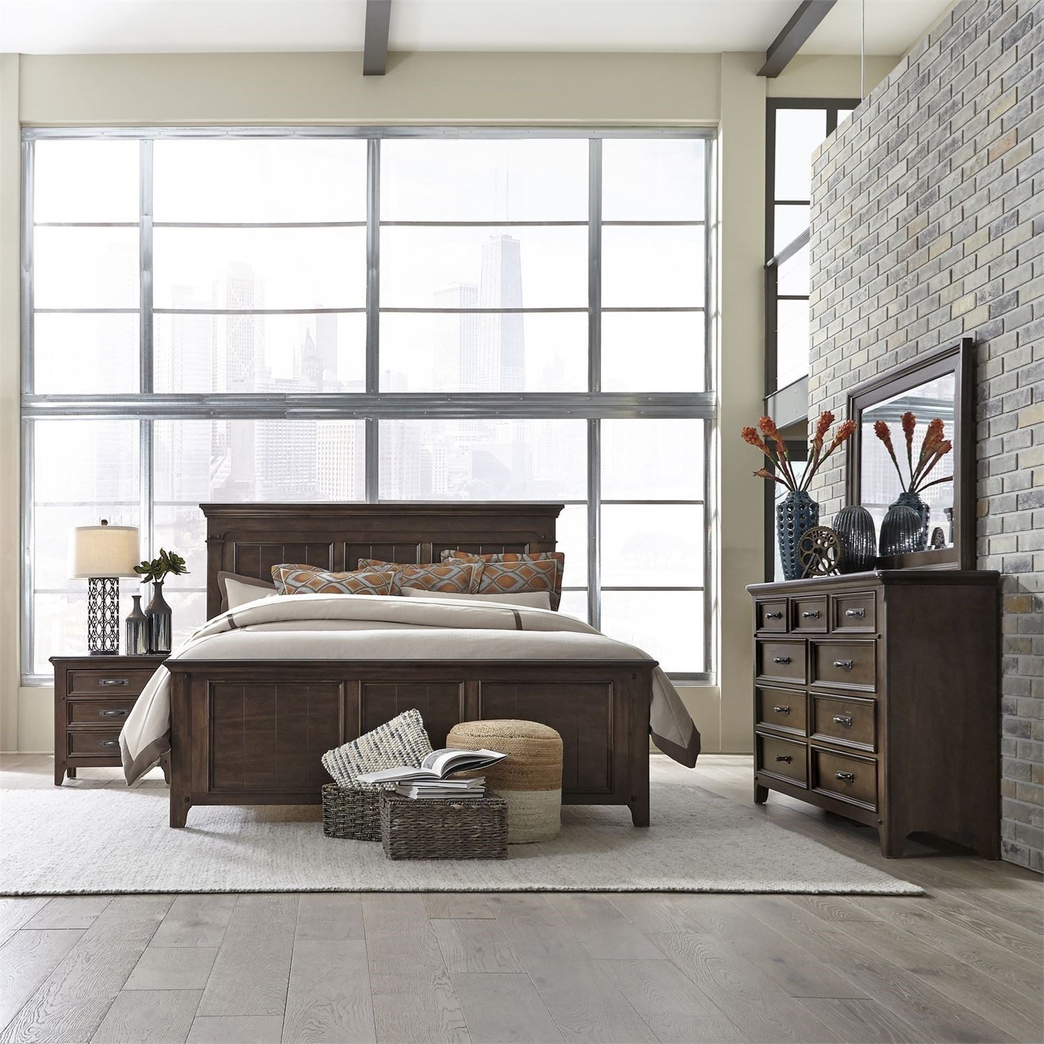 Saddlebrook King Bedroom Group by Liberty Furniture at Northeast Factory Direct