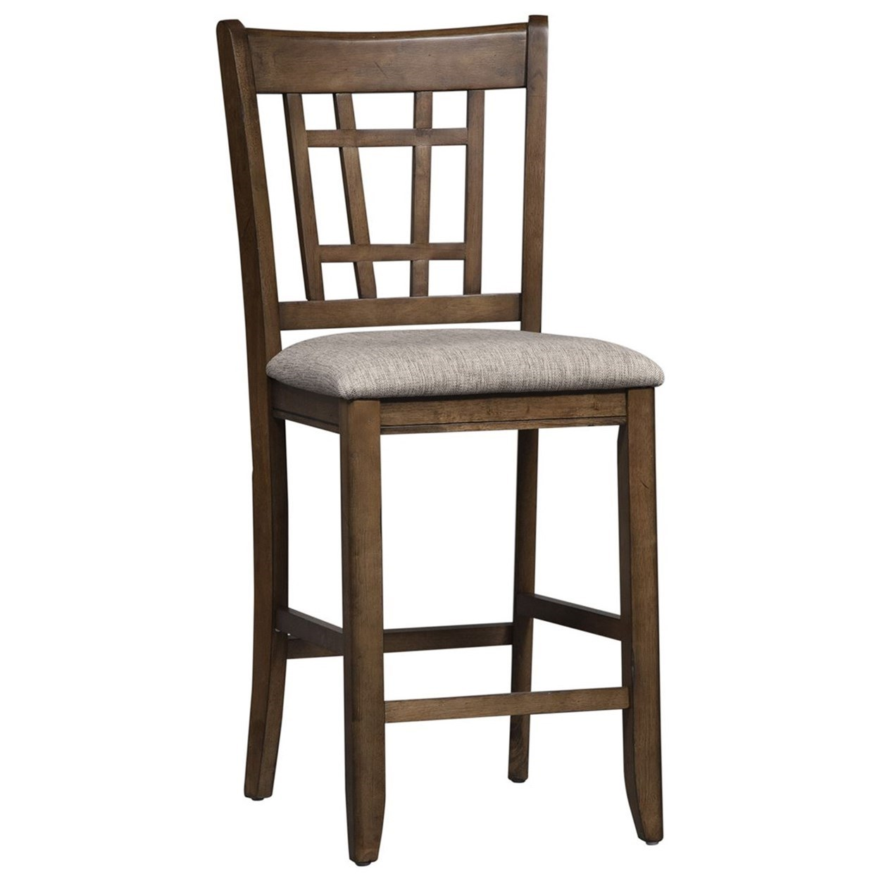 Santa Rosa II Lattice Back Counter Height Chair by Libby at Walker's Furniture