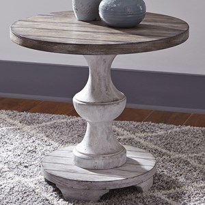 Traditional Pedestal End Table