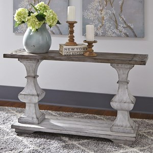 Traditional Sofa Table with Bottom Shelf