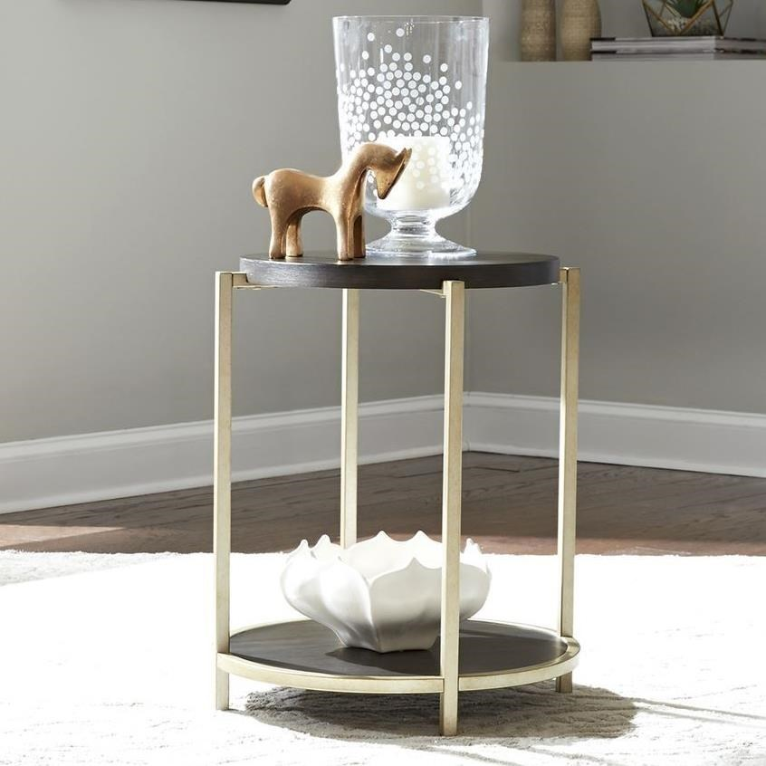 Serenity Round Chairside Table by Libby at Walker's Furniture