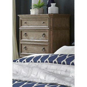 Cottage Five Drawer Chest with Felt-Lined Top Drawer