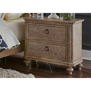 Cottage Two Drawer Night Stand