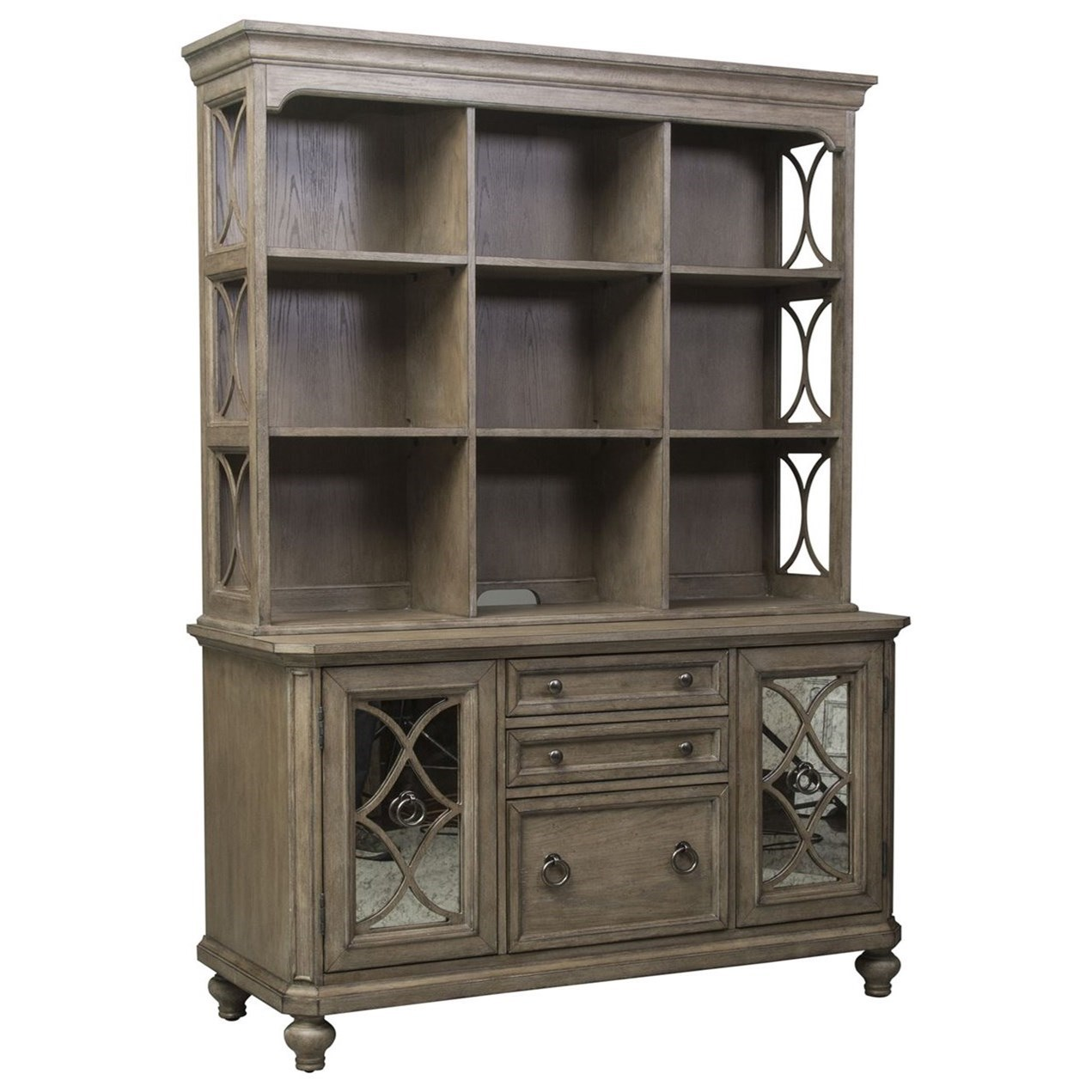Simply Elegant Credenza and Hutch by Libby at Walker's Furniture