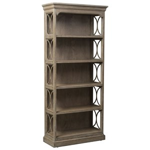 Bookcase with Grid Overlay