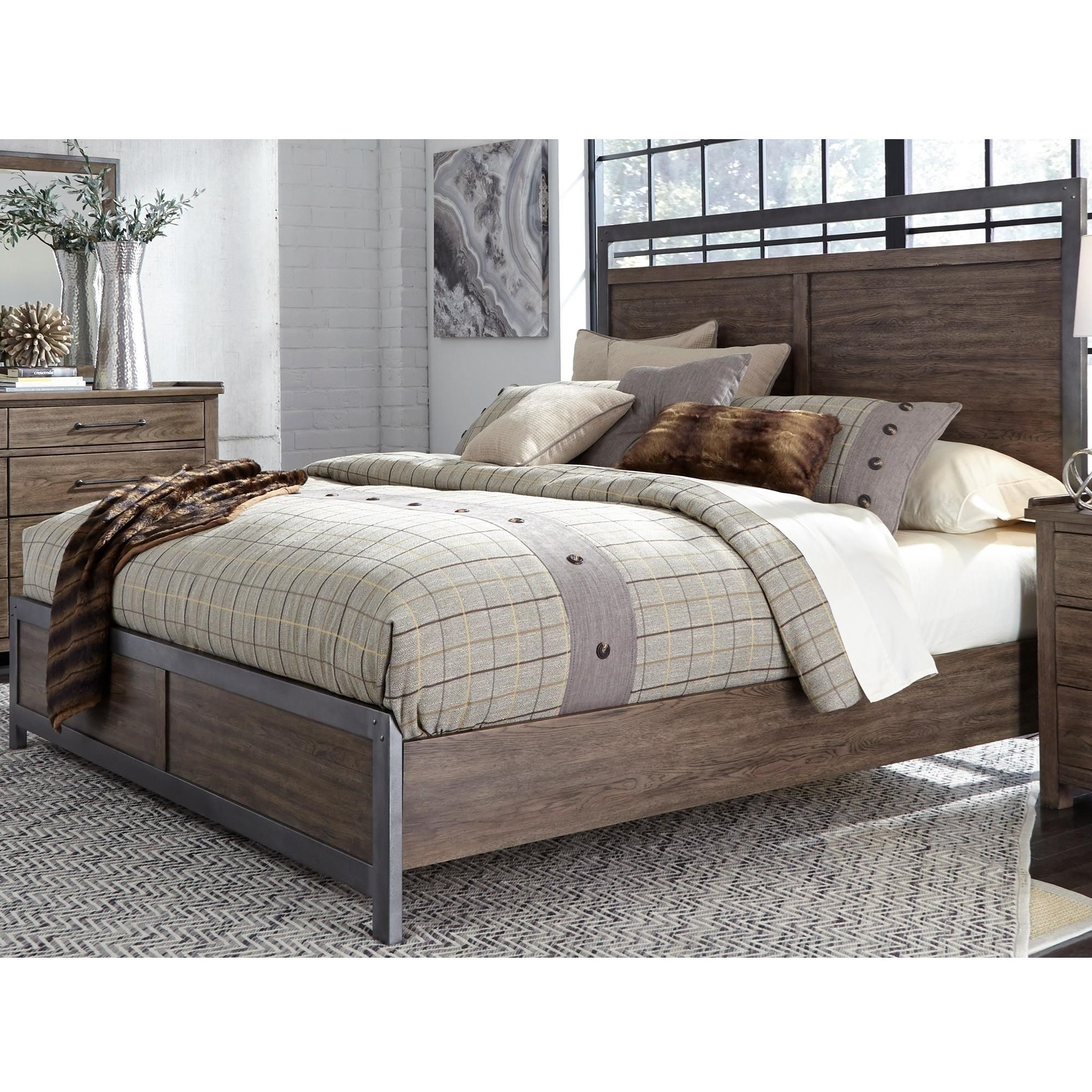 Sonoma Road Queen Panel Bed  by Liberty Furniture at Northeast Factory Direct