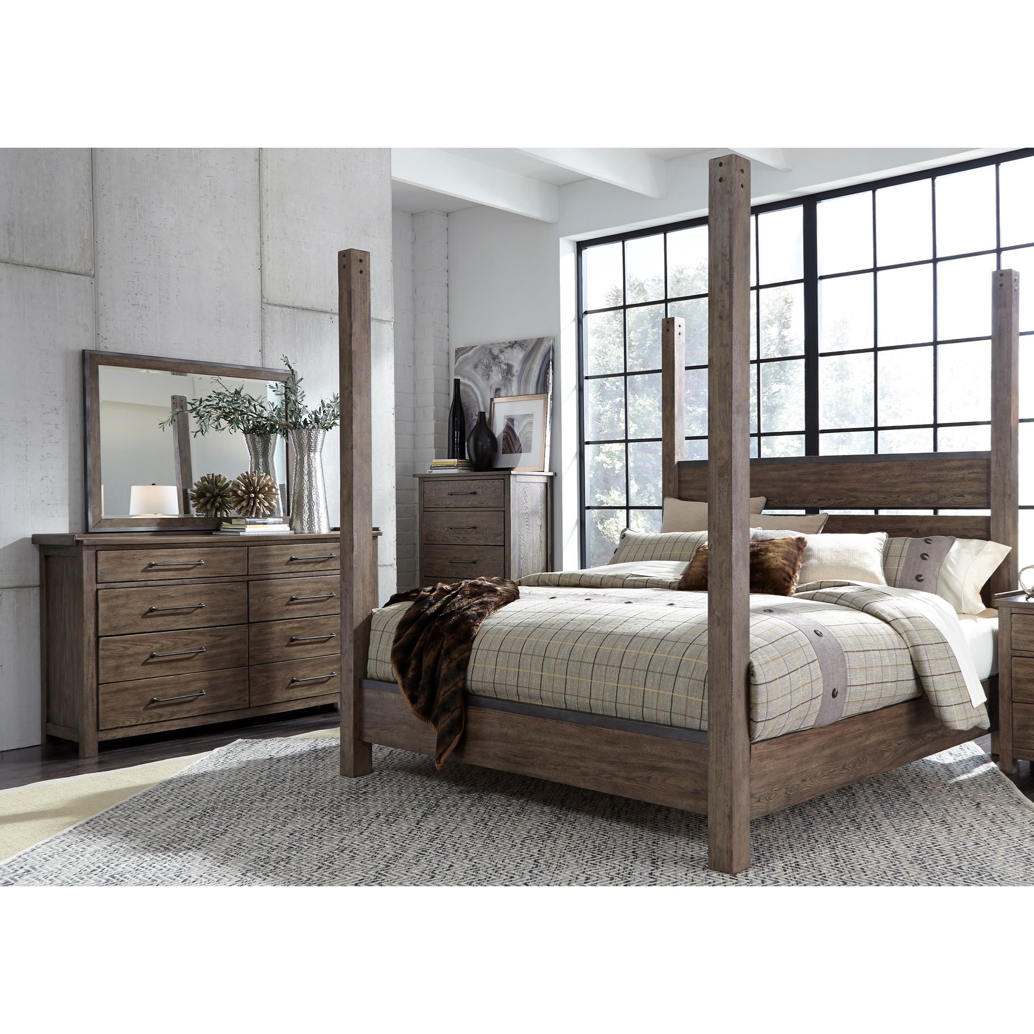 Sonoma Road Queen Bedroom Group by Liberty Furniture at Suburban Furniture