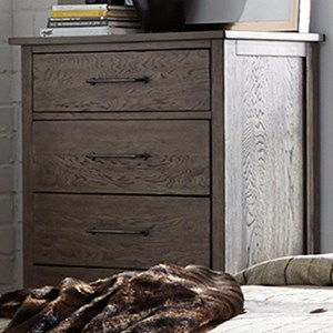 Contemporary 5 Drawer Chest with Cedar Lined Bottom Drawers