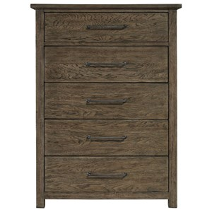 Modern 5-Drawer Chest with Cedar-Lined Bottom Drawers