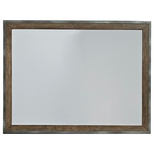 Contemporary Landscape Mirror with Metal Frame
