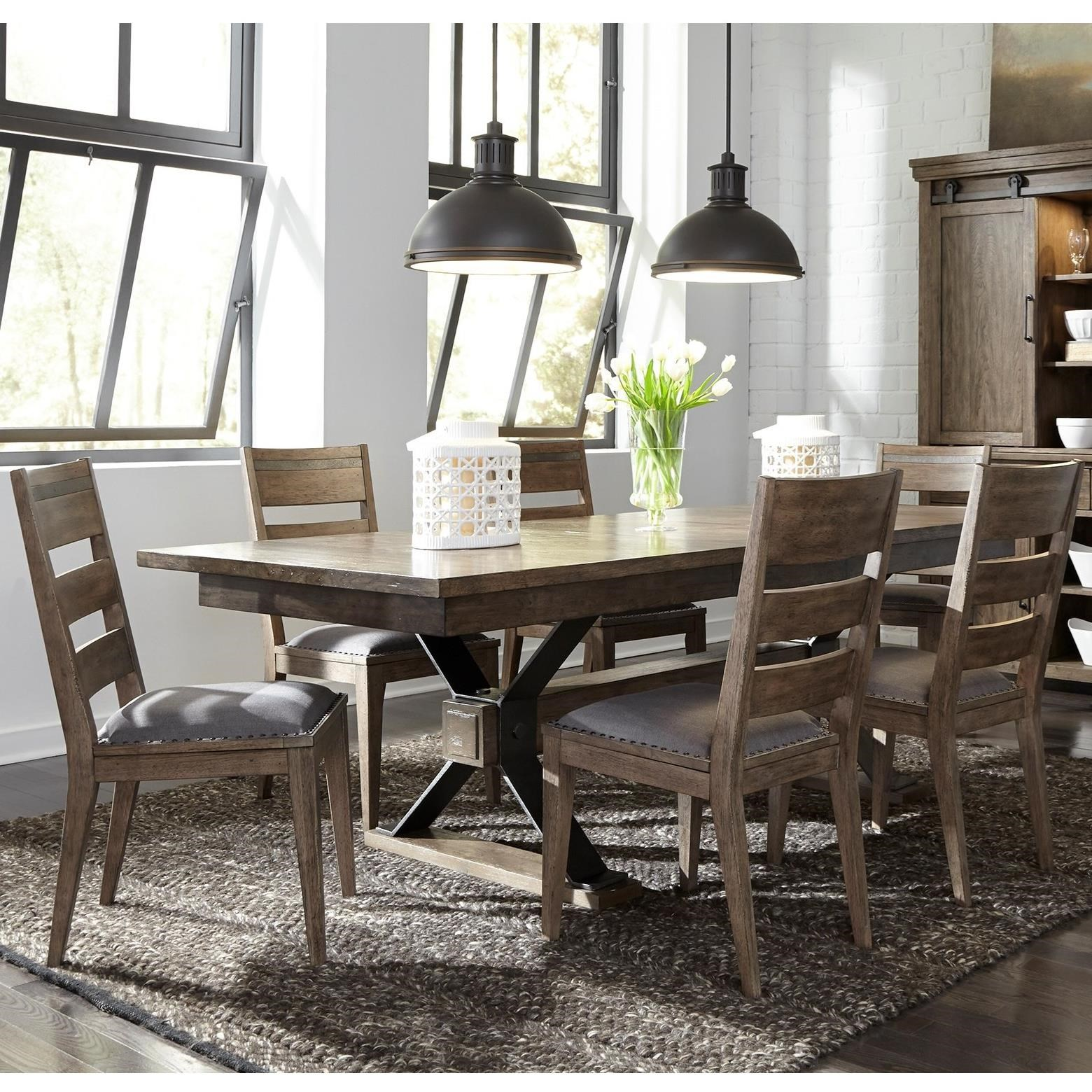 Sonoma Road 7 Piece Table and Chair Set  by Libby at Walker's Furniture