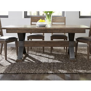 Contemporary Rectangular Trestle Table
