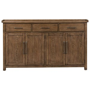 Contemporary Hall Buffet with Felt Lined Top Drawers