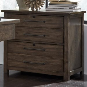 Contemporary 4 Drawer Lateral File with Bottom Case Dust Proofing