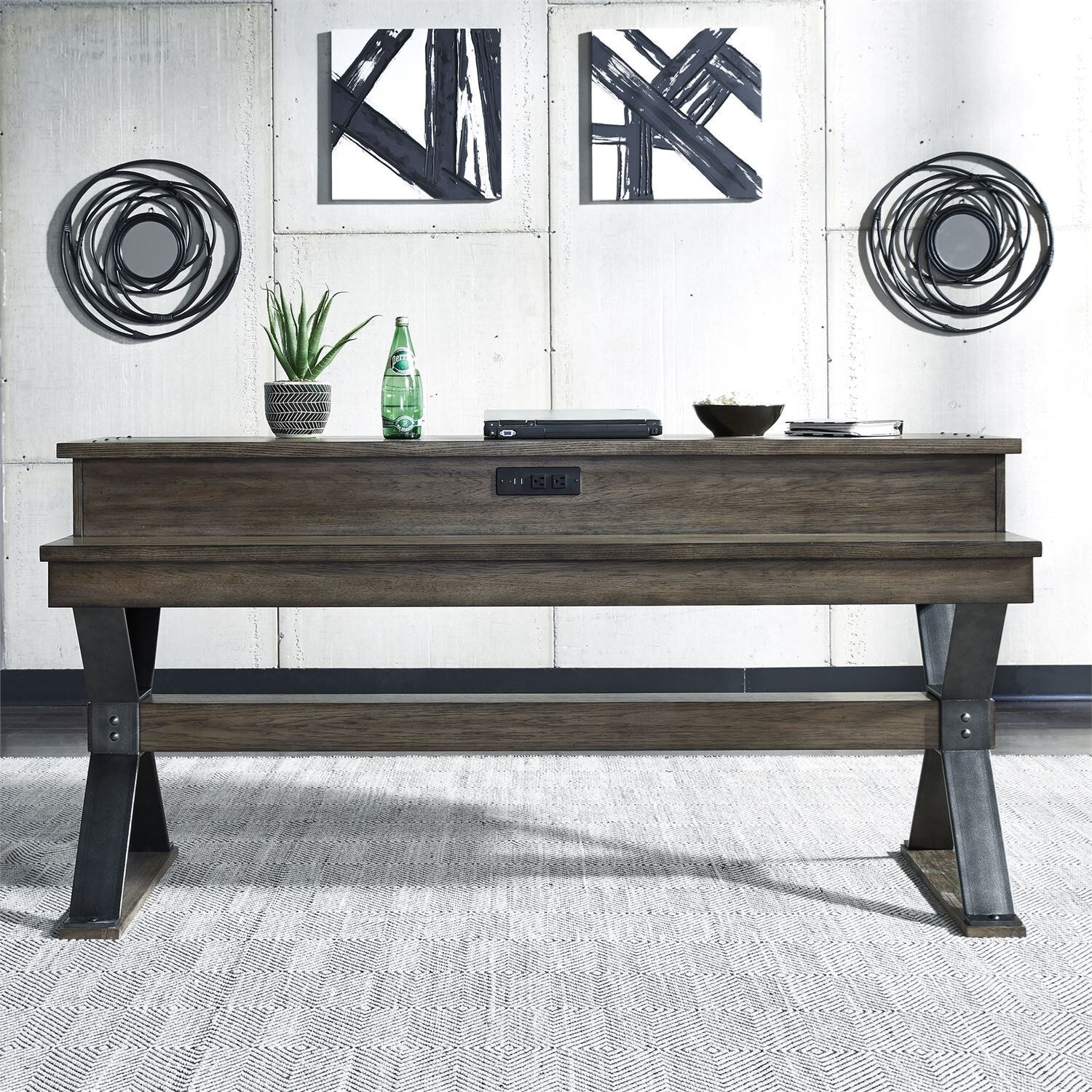 Sonoma Road Console Bar Table by Libby at Walker's Furniture