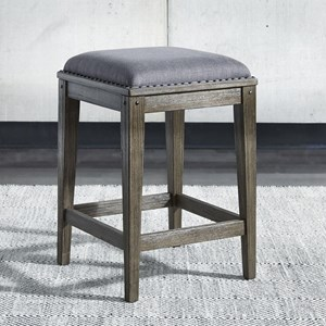 Contemporary Upholstered Console Stool