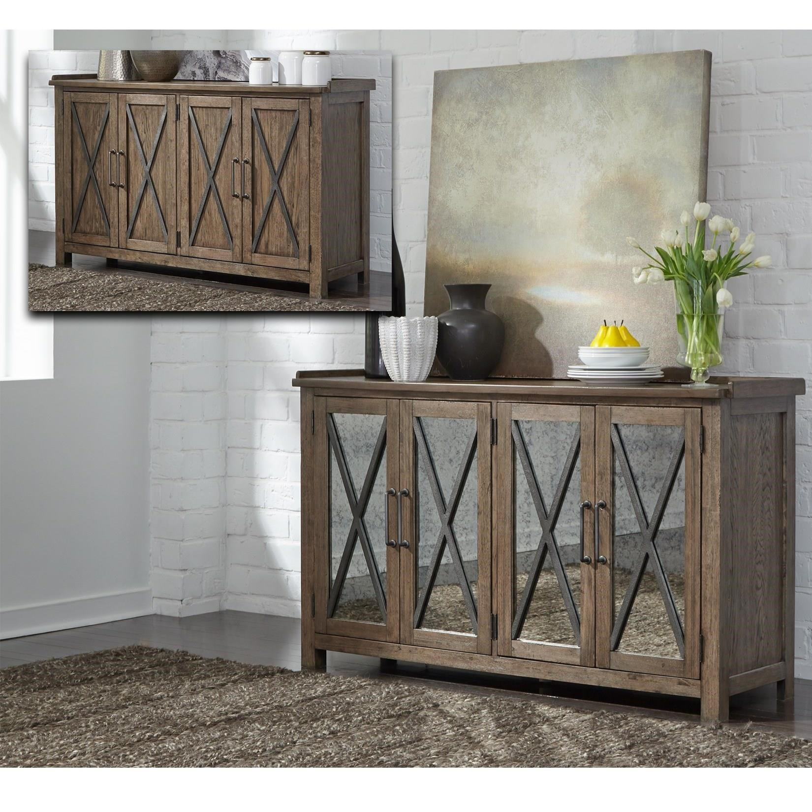 Sonoma Road Sideboard with Reversible Doors by Liberty Furniture at Lapeer Furniture & Mattress Center