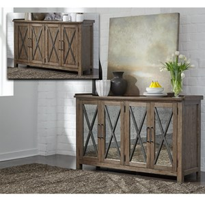 Contemporary Sideboard with Reversible Doors