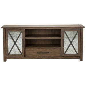 Contemporary TV Stand with Mirrored Doors