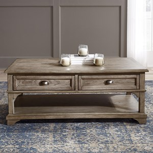 Transitional 2-Drawer Cocktail Table