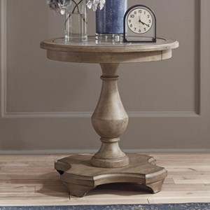 Transitional Round Chairside Table