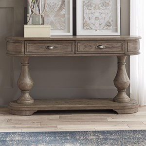Transitional 2-Drawer Sofa Table