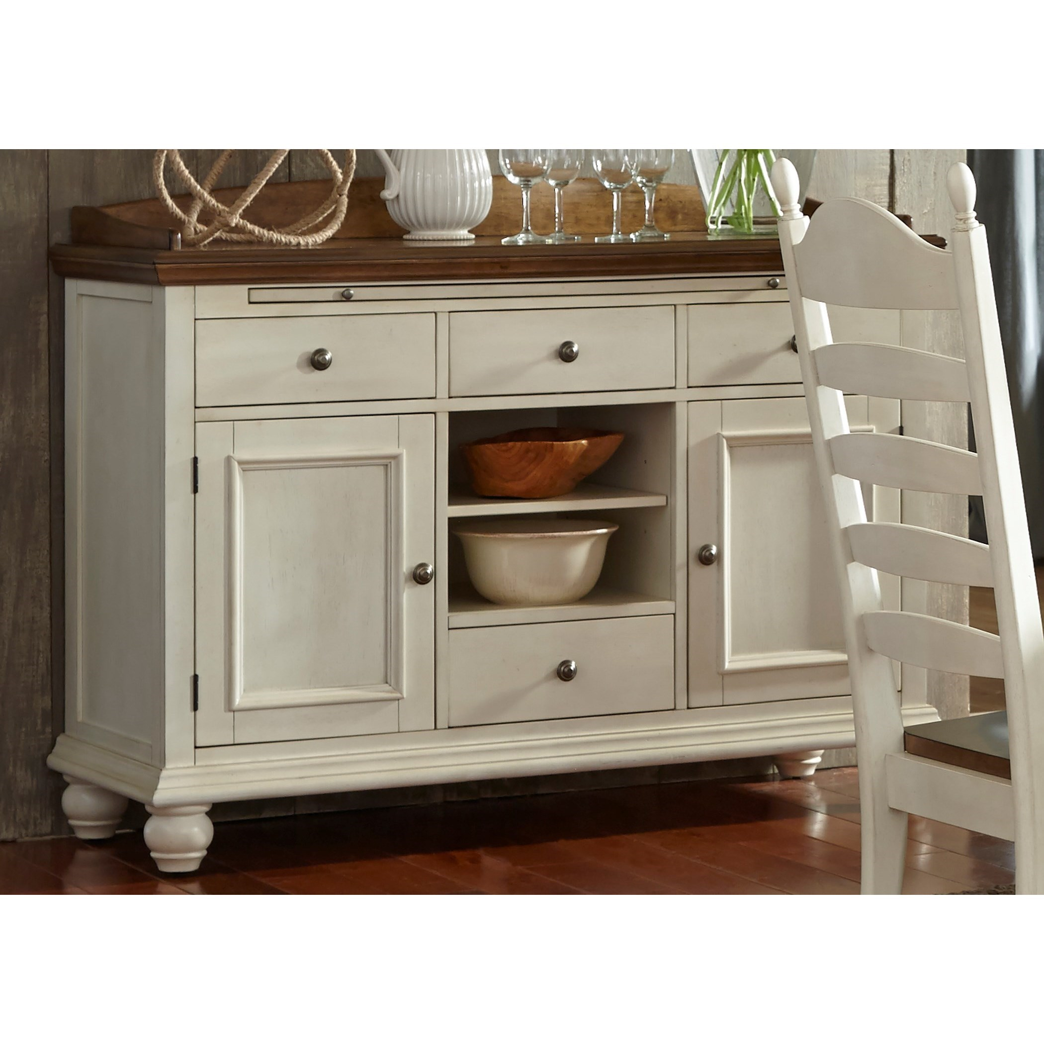 Springfield Dining 4 Drawer Sideboard by Libby at Walker's Furniture