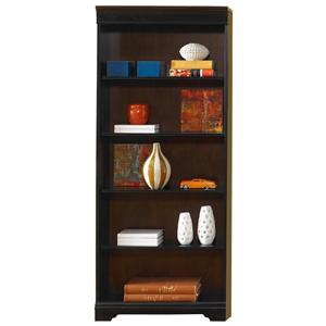 Traditional 72-Inch Executive Open Bookcase