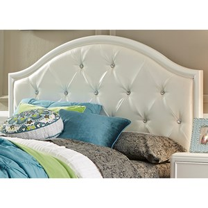 Glam Full Panel Headboard with Crystal Tufting