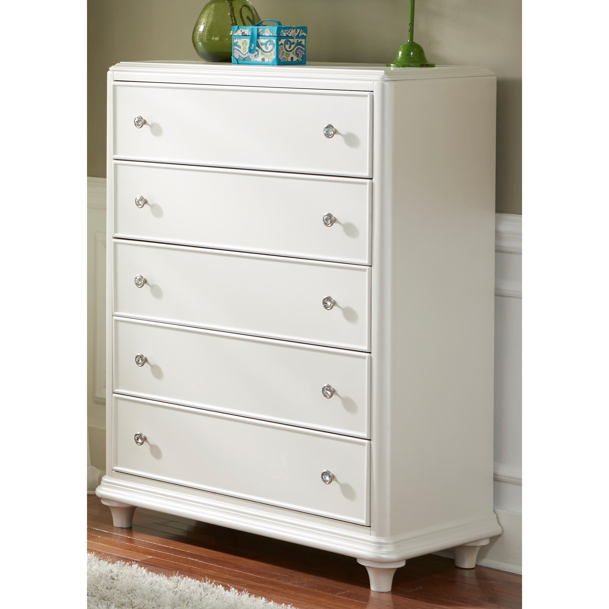 Stardust 5 Drawer Chest by Libby at Walker's Furniture