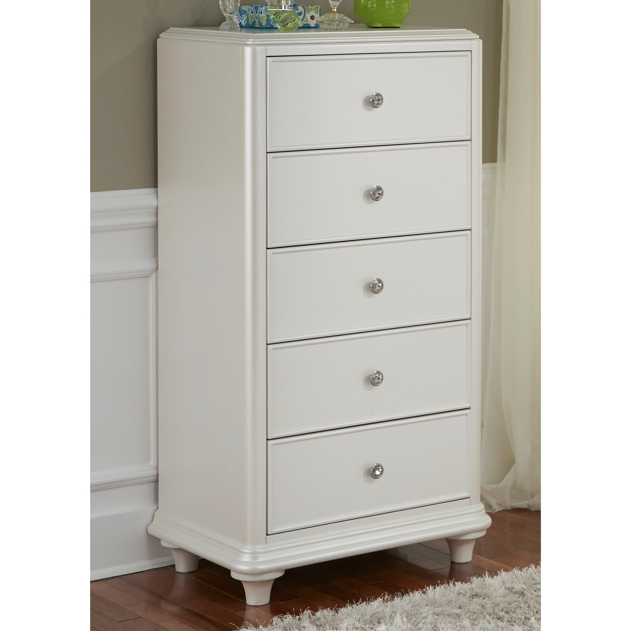 Stardust 5 Drawer Lingerie Chest by Libby at Walker's Furniture