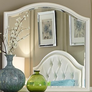 Contemporary Bow Shaped Top Dresser Mirror