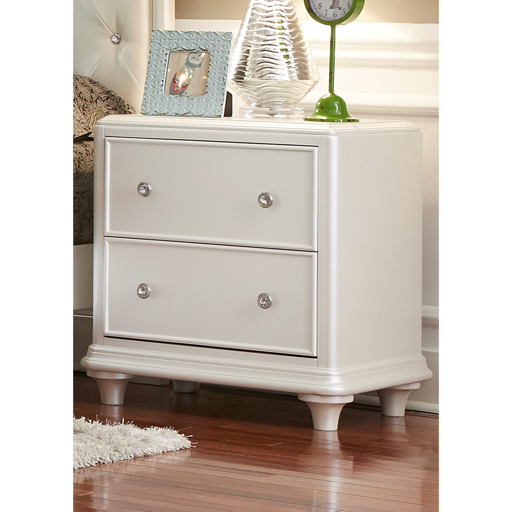 Stardust 2 Drawer Night Stand by Liberty Furniture at Darvin Furniture