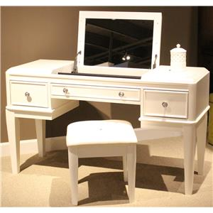 Liberty Furniture Stardust Vanity and Bench