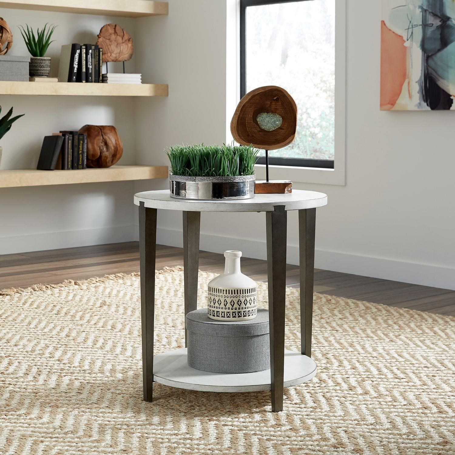 Sterling Round End Table by Liberty Furniture at Johnny Janosik