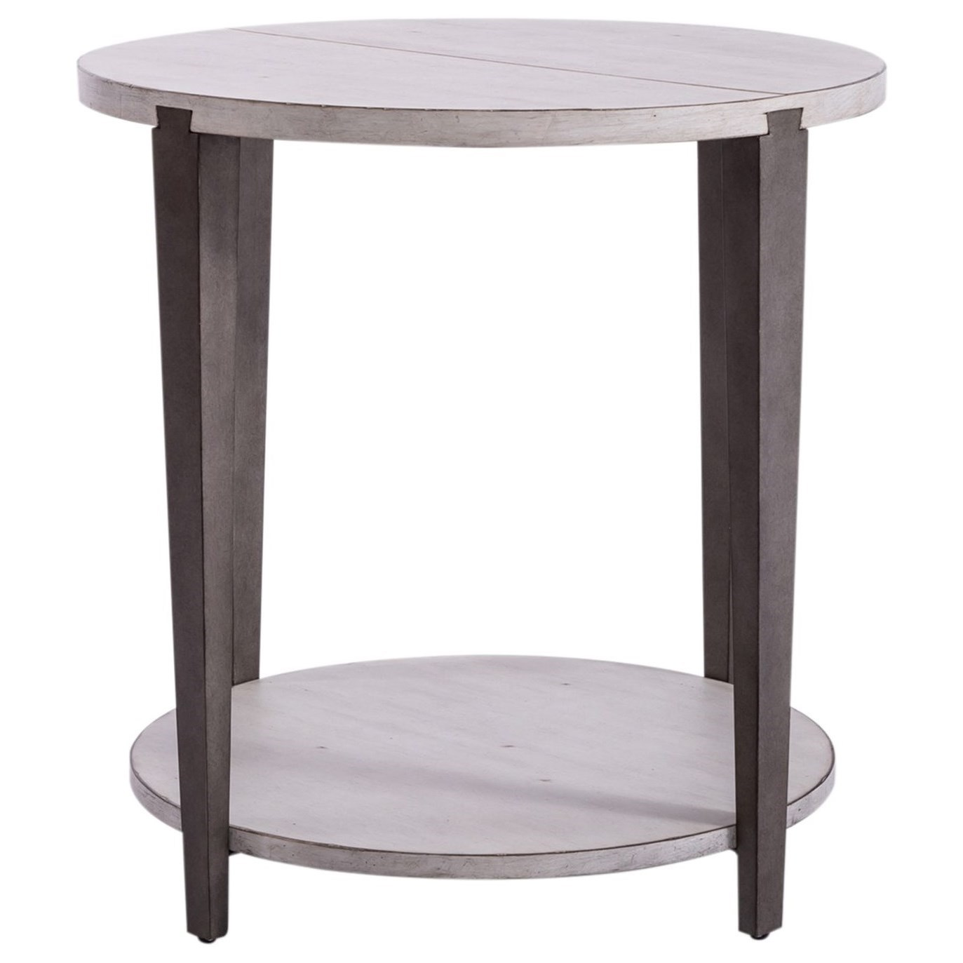 Sterling Round End Table by Libby at Walker's Furniture