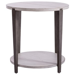 Two-Tone Round End Table
