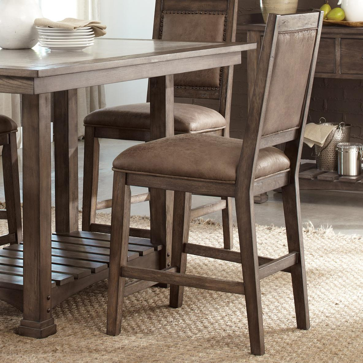 Stone Brook Upholstered Counter Chair by Liberty Furniture at Lapeer Furniture & Mattress Center